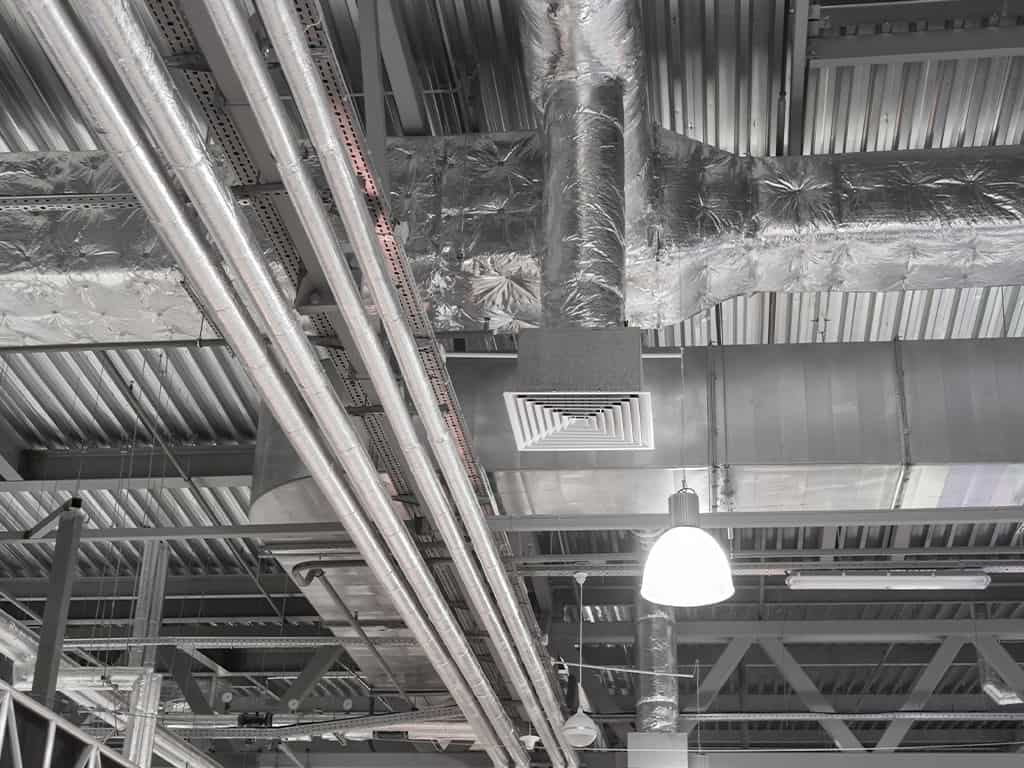 ventilation pipes of air conditioning unit